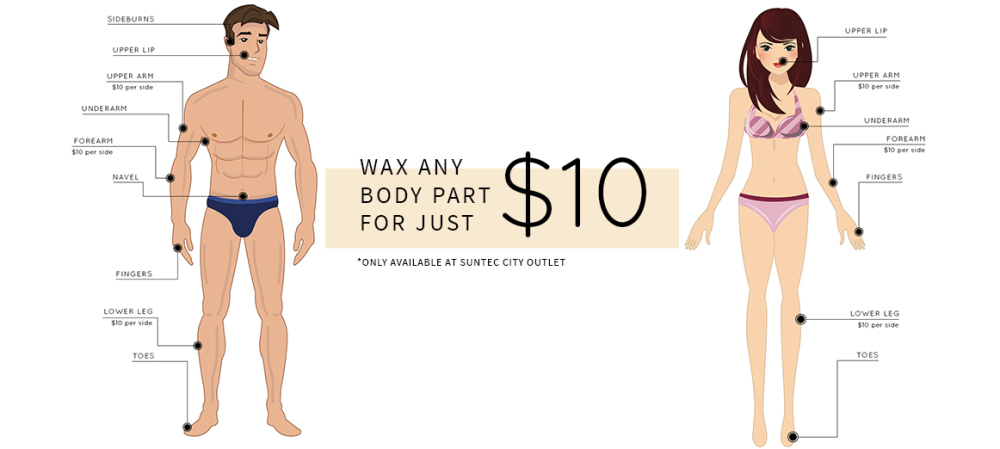 Wax ANY Body Part for $10