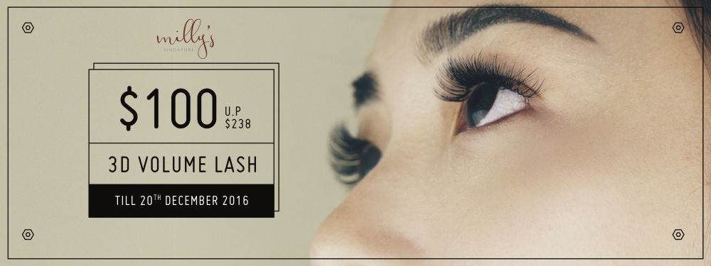 Milly's 3D Volume Eyelash Extensions at $100!